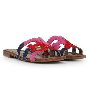 Sam Edelman Bay Suede Slide Colorful Sandals NWT